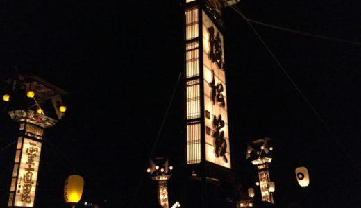 地元(七尾市)のお祭り「新宮納涼祭」を紹介!美しい灯火!